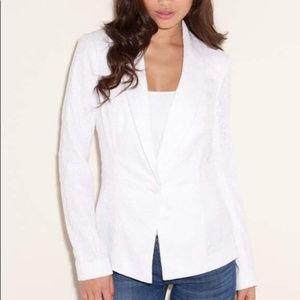 Guess White Lace Lisa Blazer Size Small